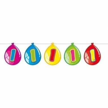 1 jaar slinger met kartonnen ballonnen 10 meter