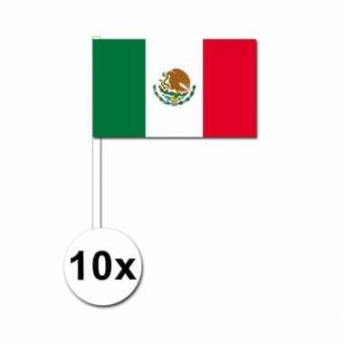 10 zwaaivlaggetjes mexicaanse vlag