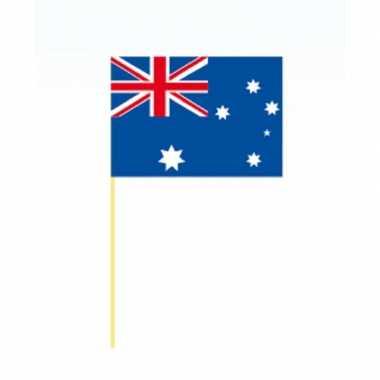 100x stuks grote coctailprikkers vlag australie 9.5 cm