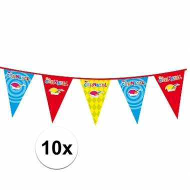 10x carnaval versiering slinger