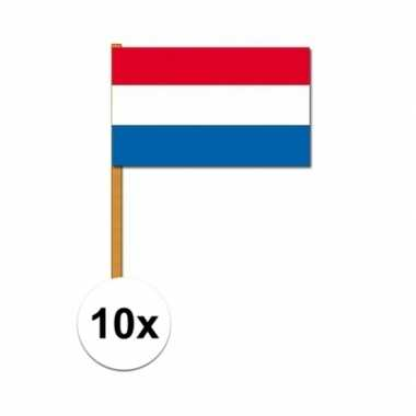 10x nederlandse handvlaggen