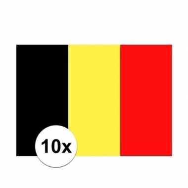 10x stuks stickers van de belgische vlag