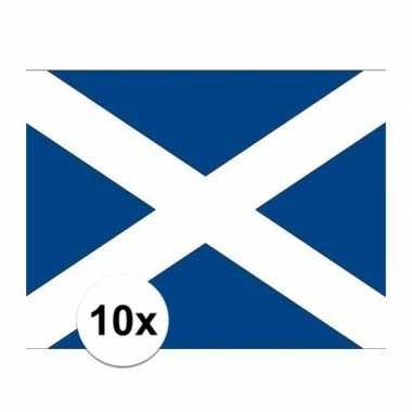10x stuks stickers van de schotse vlag