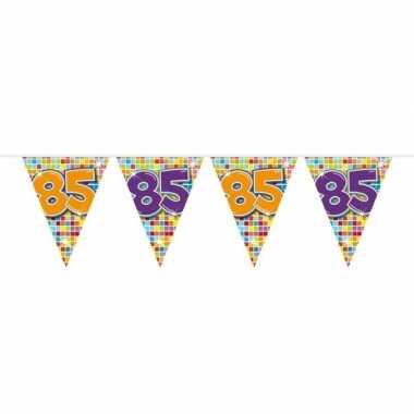 1x mini vlaggenlijn feestversiering met leeftijd 85