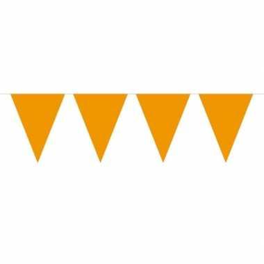 1x mini vlaggenlijn versiering oranje 300 cm