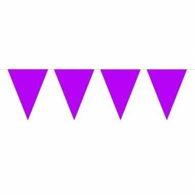 1x mini vlaggenlijn versiering paars 300 cm