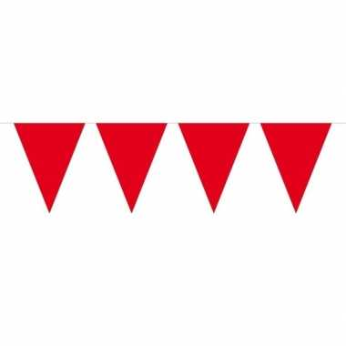 1x mini vlaggenlijn versiering rood 300 cm