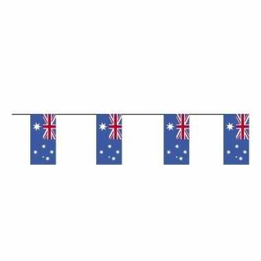 2 stuks papieren vlaggetjes slingers van vlaggen australie