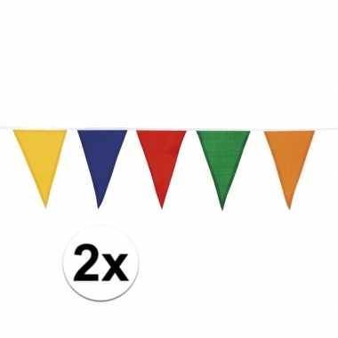 2 stuks vlaggenlijn katoen meerdere kleuren