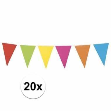 20x gekleurde vlaggenlijn xl 10 meter
