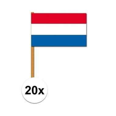 20x nederlandse handvlaggen