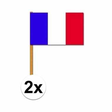 2x grote franse zwaaivlag