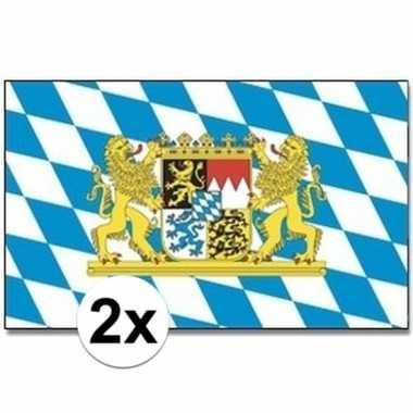 2x landenvlaggen bayern/bijeren