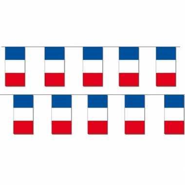 2x papieren vlaggenlijnen frankrijk