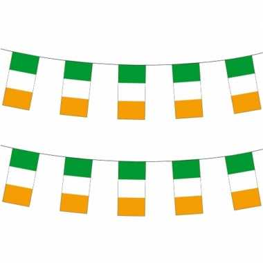 2x papieren vlaggenlijnen ierland