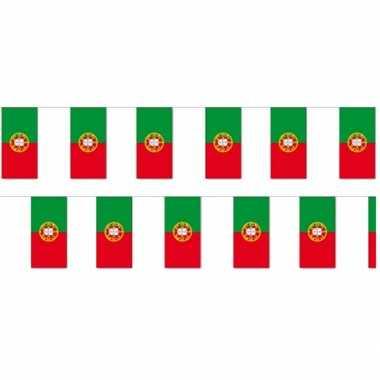 2x papieren vlaggenlijnen portugal