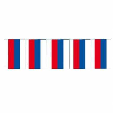 2x papieren vlaggenlijnen rusland