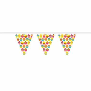 2x plastic slinger in cupcake thema