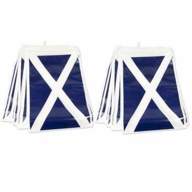 2x schotse versiering vlaggenlijn