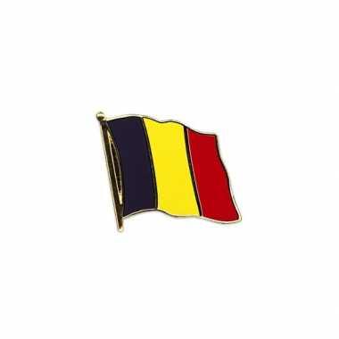 2x stuks pin speldjes van vlag belgie