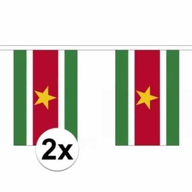 2x suriname slingers vlaggetjes