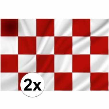 2x vlaggen van noord brabant