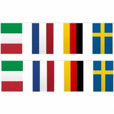 2x vlaggenlijn europese landen