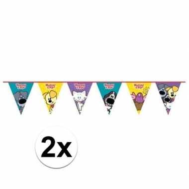2x woezel en pip kinderfeestje vlaggenlijn