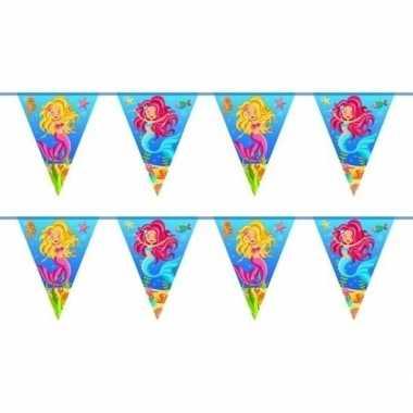 2x zeemeermin verjaardag vlaggenlijn 10 meter