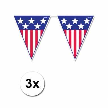 3 amerika vlaggenlijnen 4 meter