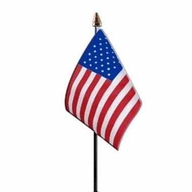 3x amerika luxe zwaaivlaggetje polyester