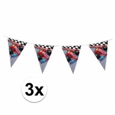 3x formule 1 serie vlaggenlijnen 3 meter