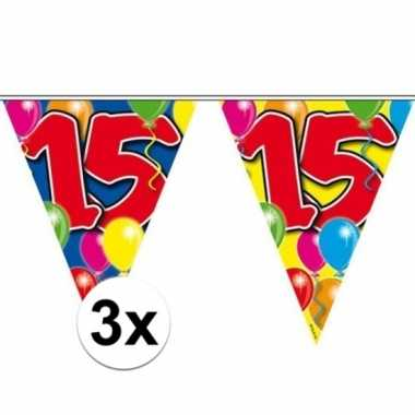 3x leeftijd slingers 15 jaar 10 meter