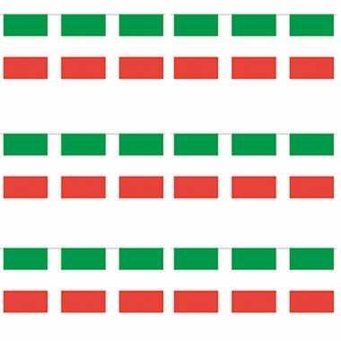 3x papieren vlaggenlijnen italie
