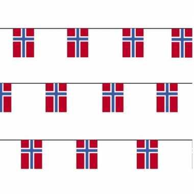 3x papieren vlaggenlijnen noorwegen