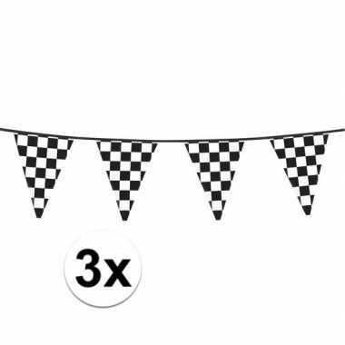 3x racing vlaggenlijn 6 meter