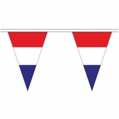 3x stuks nederlandse landen versiering vlaggetjes 5 meter
