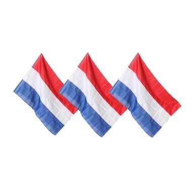 3x vlaggen nederland 100 x 150 cm
