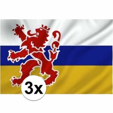 3x vlaggen van limburg