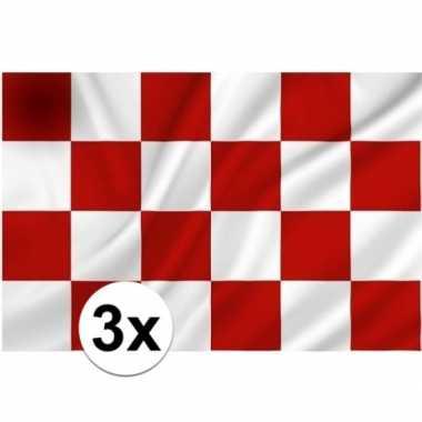 3x vlaggen van noord brabant
