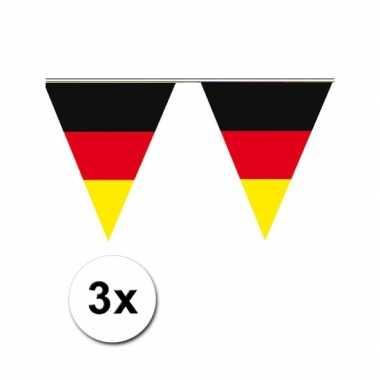 3x vlaggenlijn duitse vlag