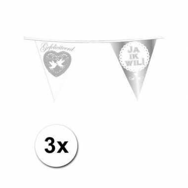 3x vlaggenlijn huwelijk ja ik wil