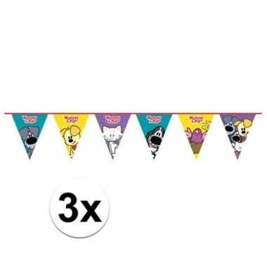 3x woezel en pip kinderfeestje vlaggenlijn
