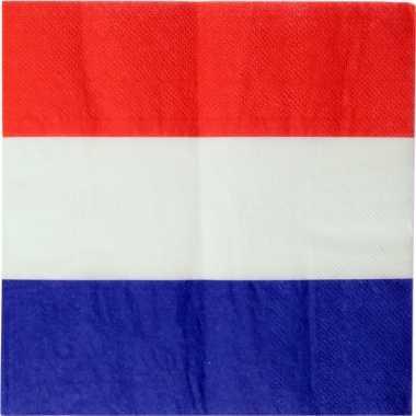 40x nederland landen thema servetten 33 x 33 cm