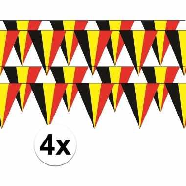 4x belgie vlaggenlijn / slinger 5 meter
