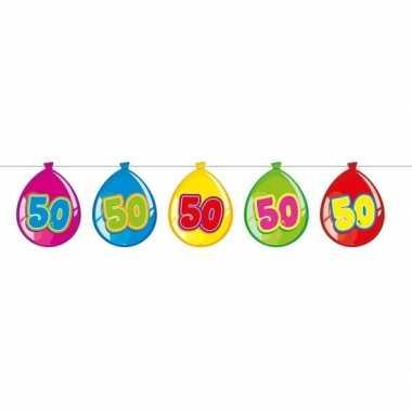 50 jaar slinger met kartonnen ballonnen 10 meter
