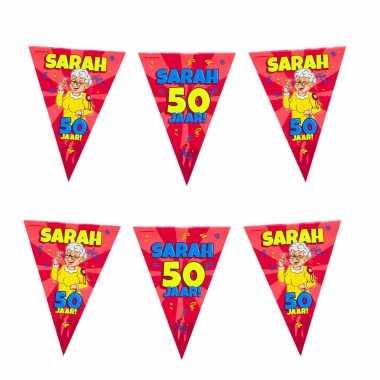 50 sarah party vlaggenlijn cartoon 10 m verjaardag versiering