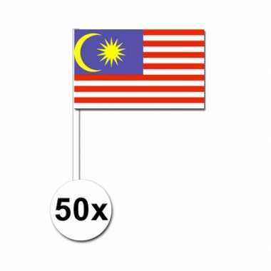 50 zaaivlaggetjes maleise vlag
