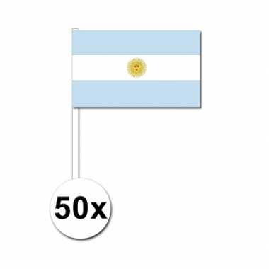 50 zwaaivlaggetjes argentijnse vlag