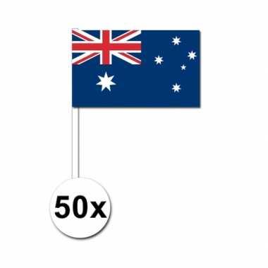 50 zwaaivlaggetjes australische vlag